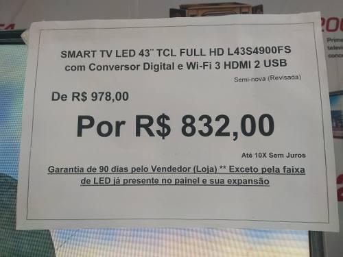 - Smart Tv 43 Polegadas L43s4900fs Tcl Com Garantia