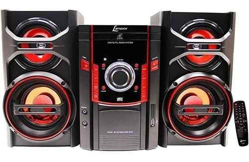 Micro System Fm/cd/mp3/usb/aux. 50w Rms Preto Lenoxx Ms844