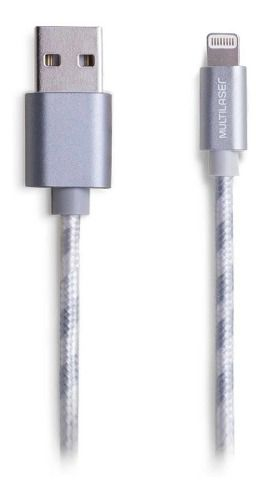 Cabo Para iPhone Ultra Resistente Nylon Branco - Wi344