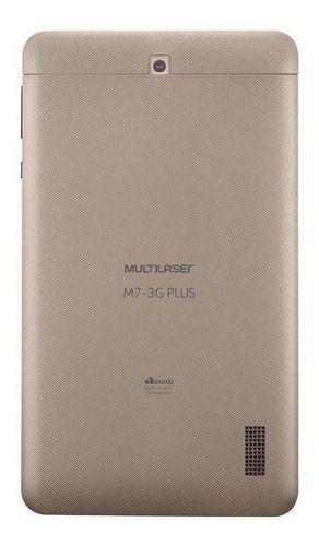 Tablet Multilaser M7 3g Plus Nb30 7 16gb Dourado Com Memória Ram 1gb