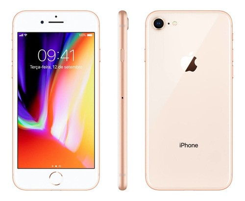 Apple iPhone 8 64 Gb Gold Original 90 Dias De Garantia -novo