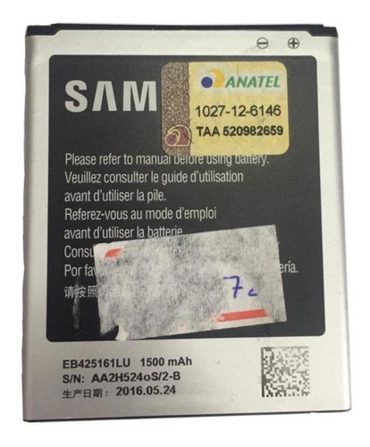 Bateria Original Samsung J1 Mini Gh43-03701b 3.8v 1500mah
