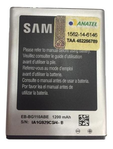 Bateria Samsung Galaxy Pocket 2 Dual 1200 Mah Original