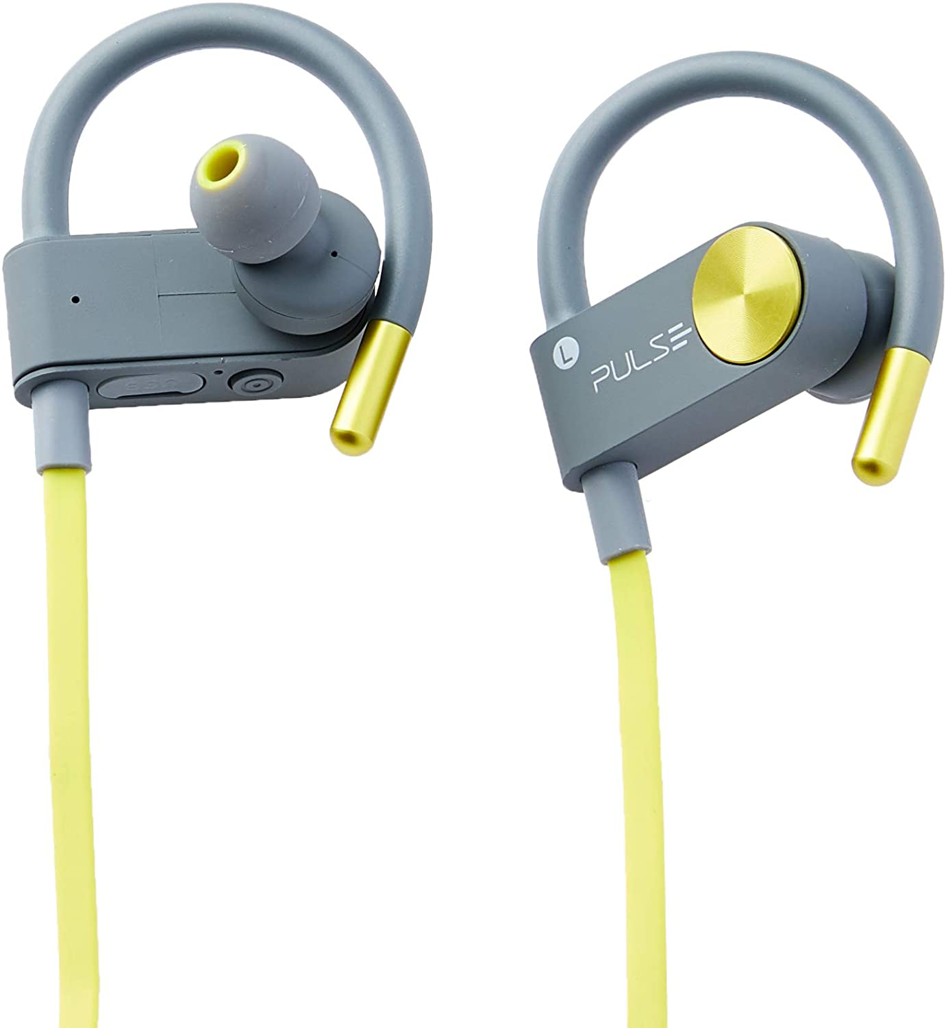 - Fone Earhook In-ear Sport Metallic Bluetooth Amarelo Ph254