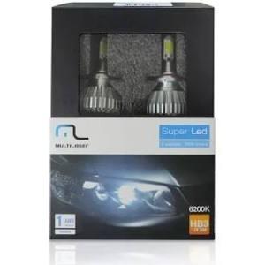 Lâmpadas Auto Super Led Multilaser Hb3 12v 30w 6200k Au830