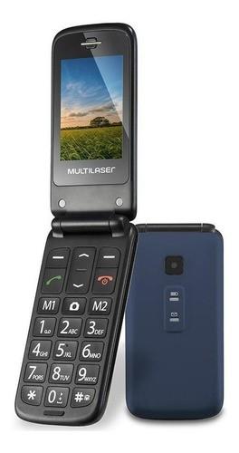 Celular Flip Vita Dual Sim 32 Mb Azul/preto 32 Mb Ram Multilaser P9020