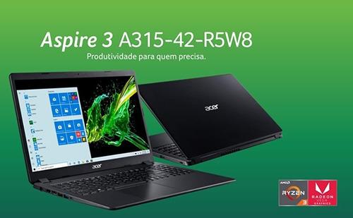 Notebook Acer Aspire 3 A315-42-r5w8 Amd Ryzen 3 8gb Ram 1tb
