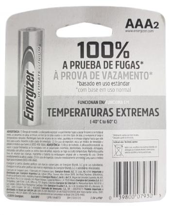 Pilha Energizer Utilmate Lithium 1,5 V 12-2039 AAA2