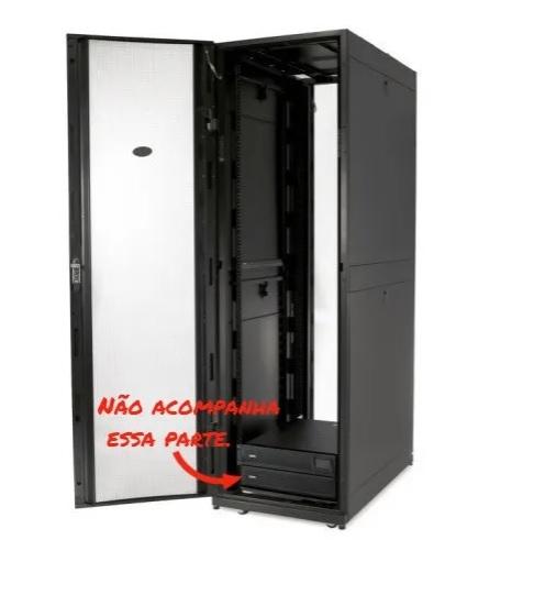 Rack (Armário em Bastidor) de Servidor NetShelter SX 42U da APC 600mm x 1070mm c/ Lados em Preto