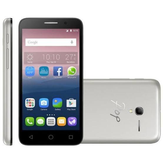 """Smartphone Alcatel PIXI3 4009I, 3.5"""", 4GB, Dual Chip, Android 4.4, Dual Core, 5 MP, Preto e Prata - Desbloqueado"""