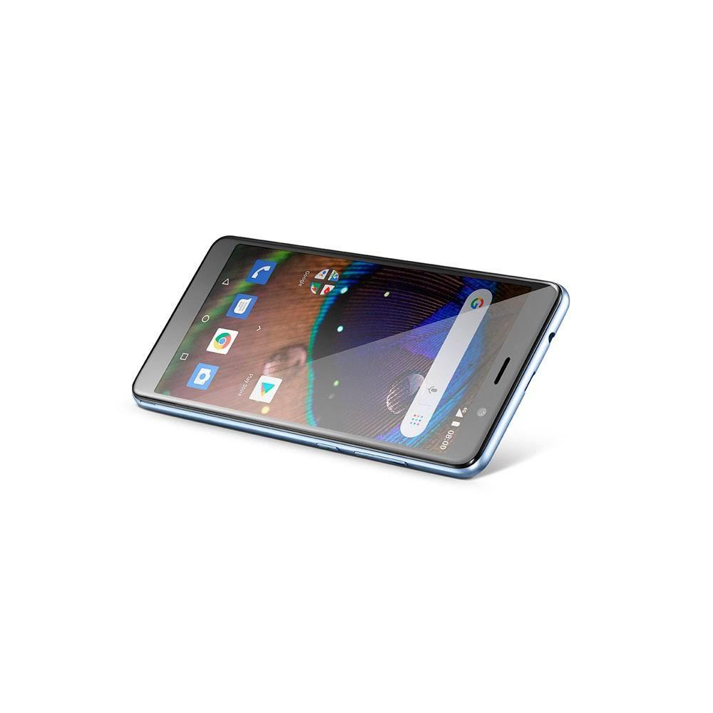 SMARTPHONE MULTILASER MS50X 4G QUAD CORE 16GB DE MEMORIA INTERNA TELA 5,5 POL. DUAL CHIP ANDROID 8.1 PRETO - P9074