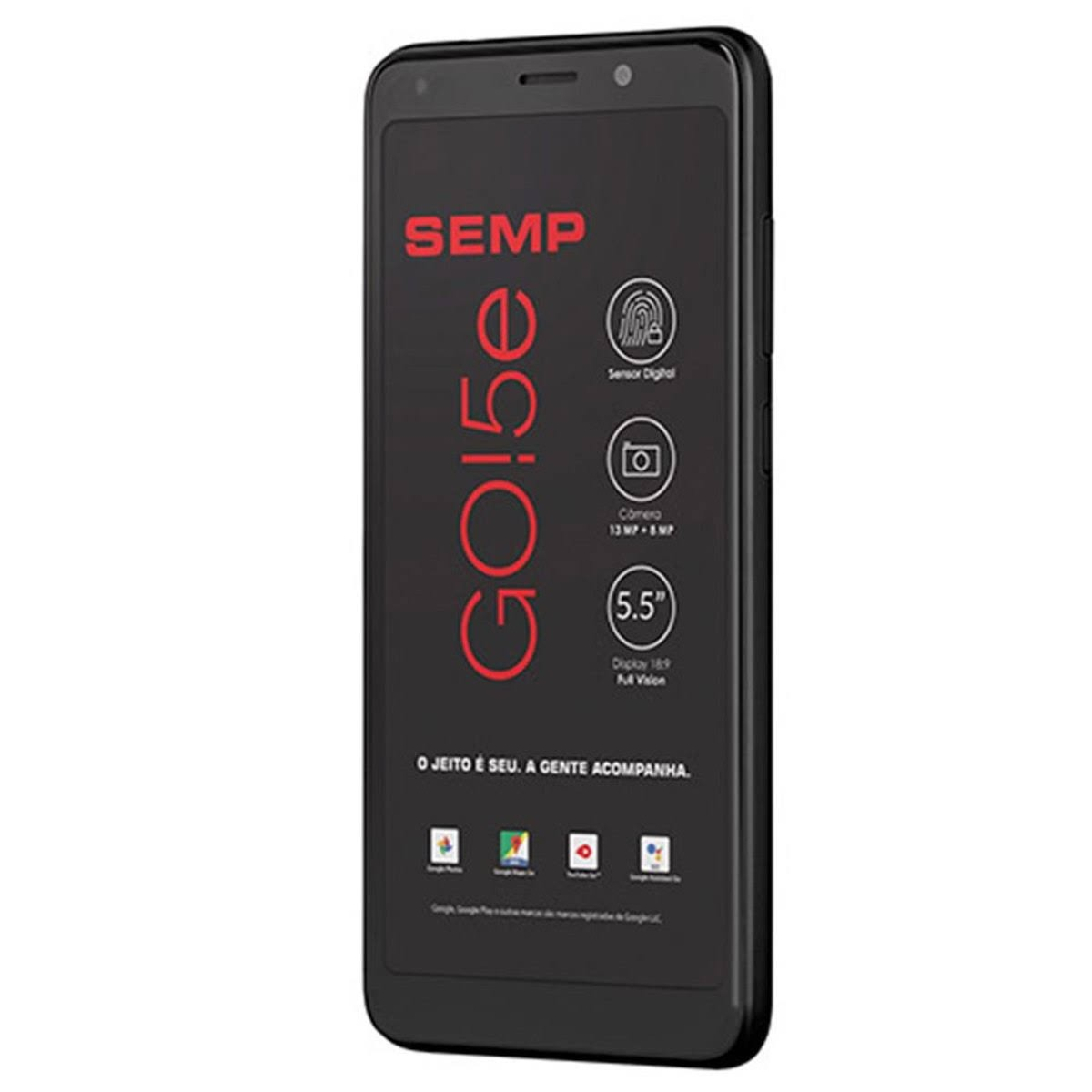 "Smartphone SEMP GO! 5e, Preto, Tela de 5.5"", 16GB, 13MP"