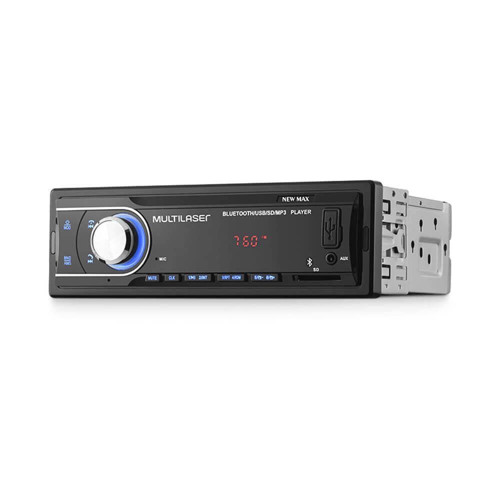 Som Automotivo New Max Rádio Mp3 4x45w Bt Multilaser - P3326