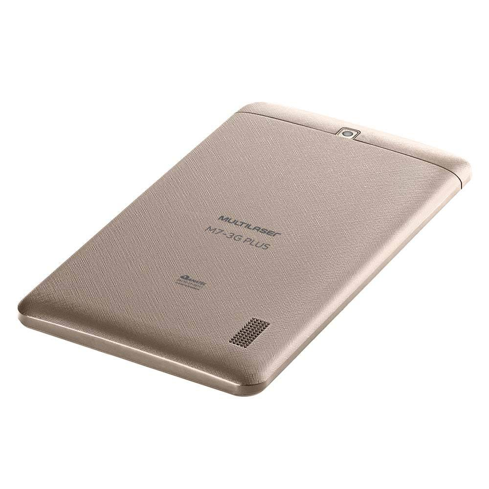 Tablet M7 3g Plus Dual Chip 16gb 1gb Tela 7 Dourado Nb306