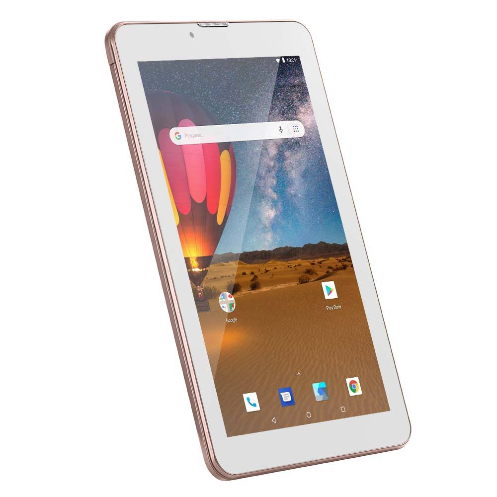 "Tablet M7 3G Plus, Dual Chip, Quad Core, 1 GB De RAM, Memória 16 Gb, Tela 7"" NB305"
