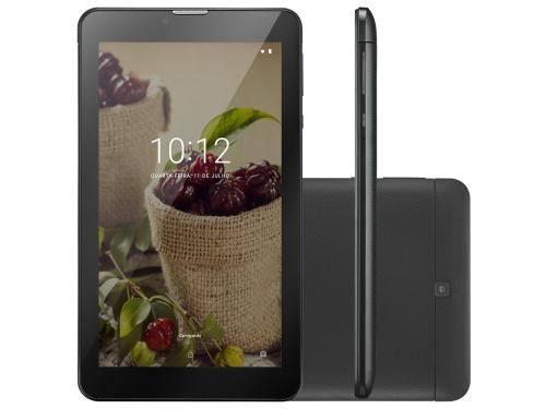 TABLET MULTILASER M7 3G PLUS SÊNIOR 1GB 8GB CÂMERA 2.0 MP+1.3 MP TELA 7 DUAL CHIP PRETO - NB294