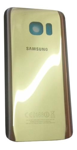 Tampa De Bateria Samsung Galaxy S7 Sm-g930f Dourado