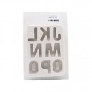 Molde de silicone alfabeto do J ao Q