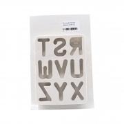 Molde de silicone alfabeto do R ao Z