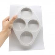 Molde de silicone porta copos 4 cav.