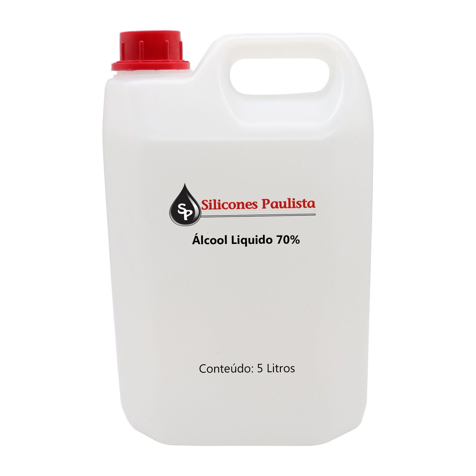 Álcool líquido 70% - 5L