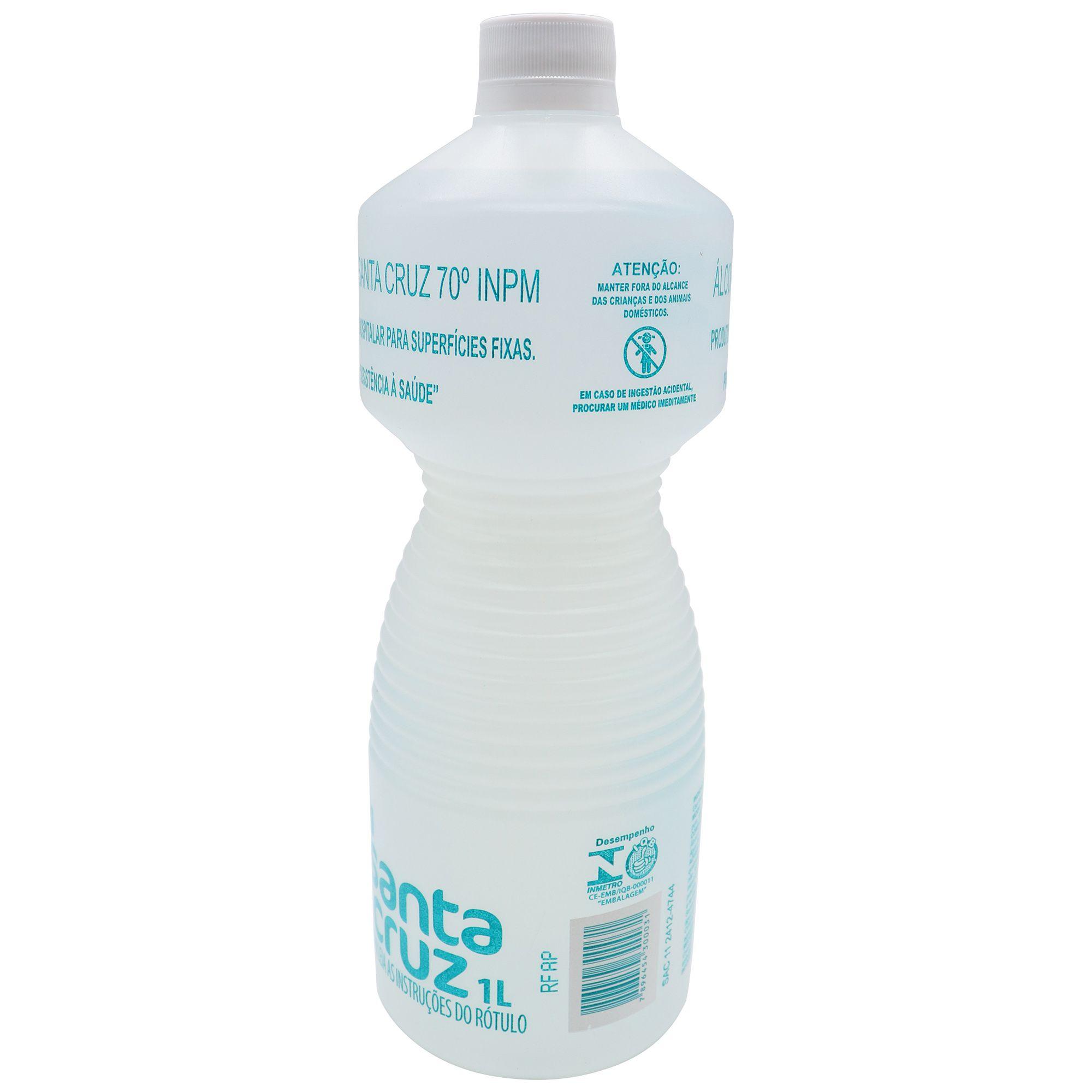 Álcool líquido 70% - 1L