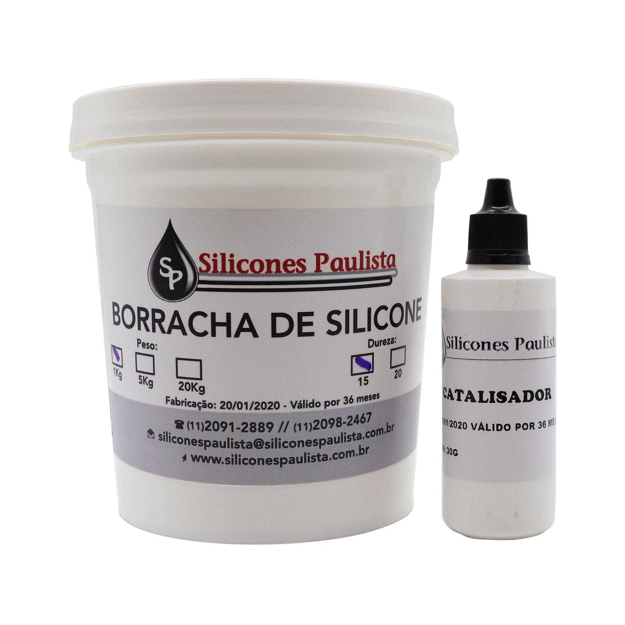 Borracha de Silicone Laranja para artesanato - 1kg/30g