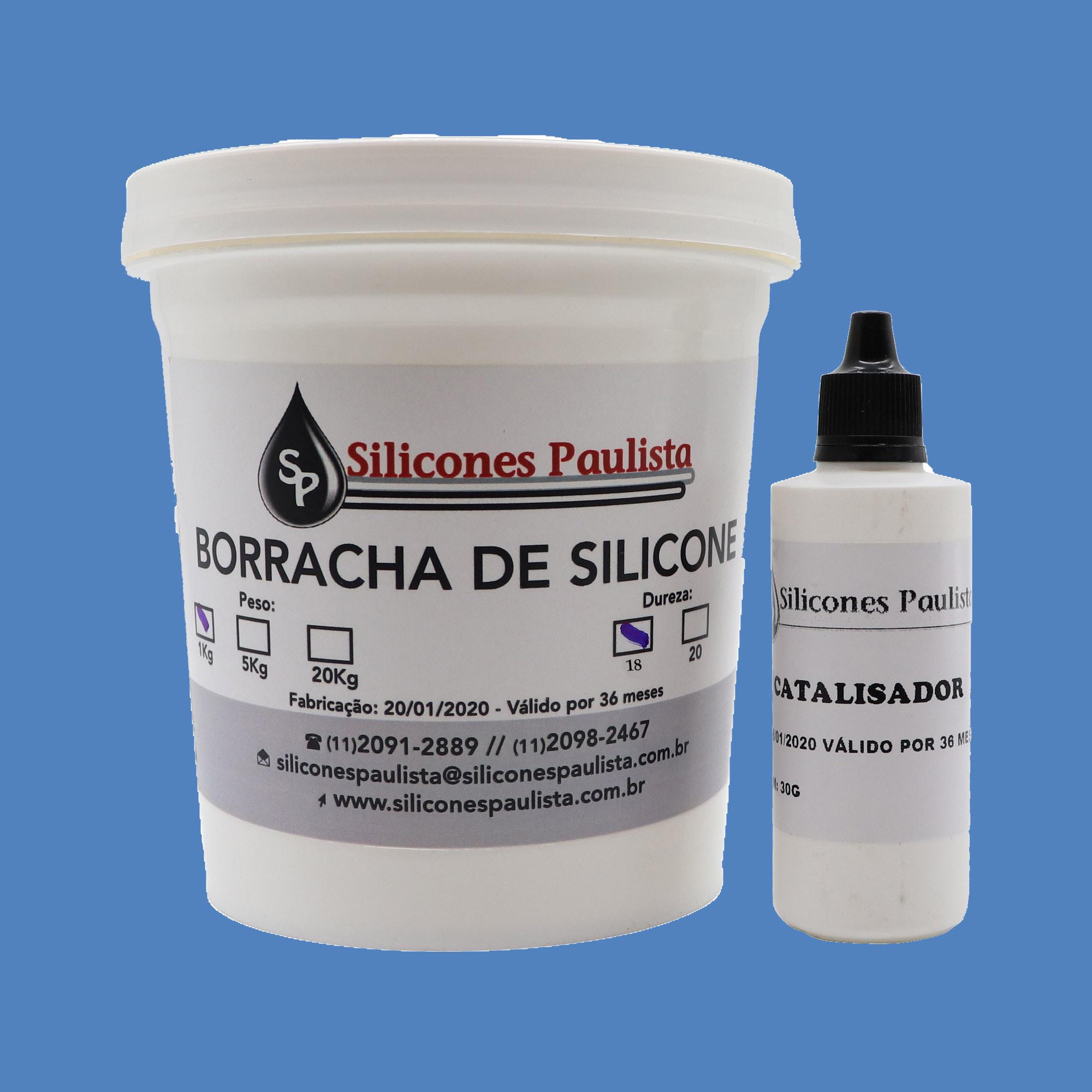 Borracha de Silicone para Artesanato e Moldes (AZUL / Shore18) - 1Kg / 30g