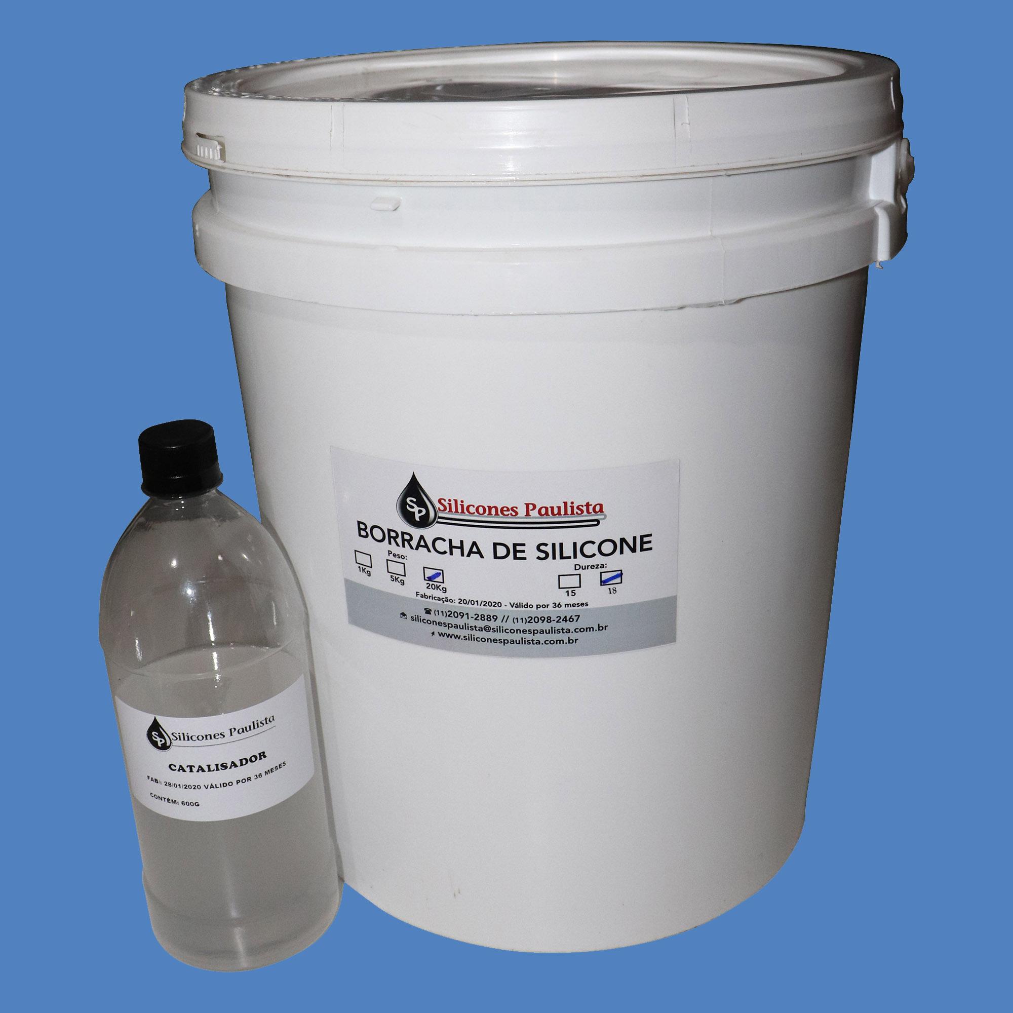 Borracha de Silicone para Artesanato e Moldes (AZUL / Shore18) - 20Kg / 600g