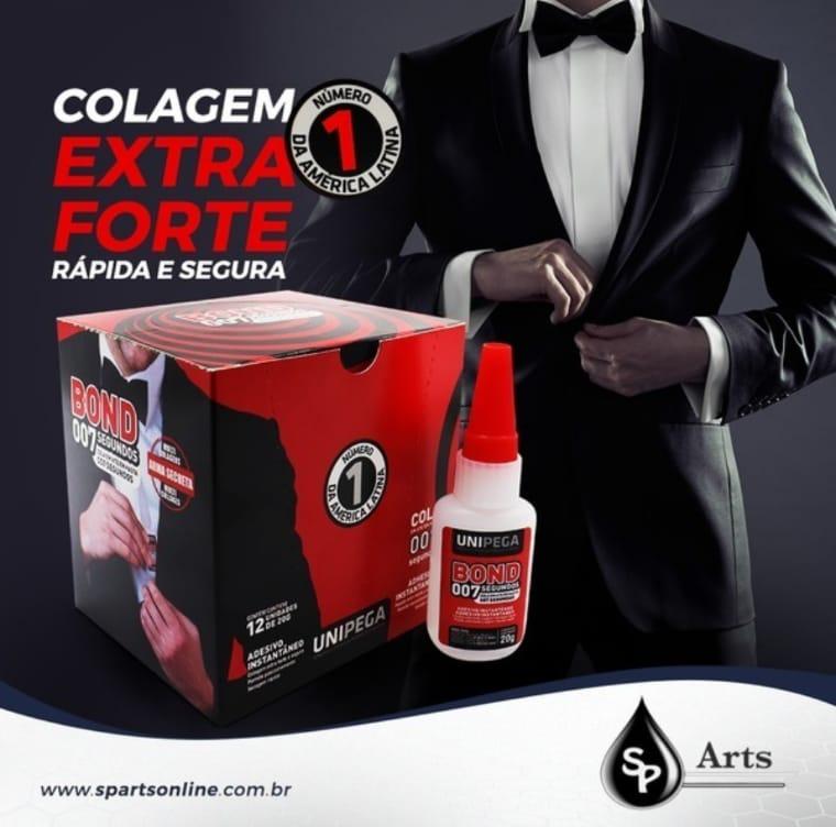 Caixa 12 uni. Cola Bond 007 segundos - 20g