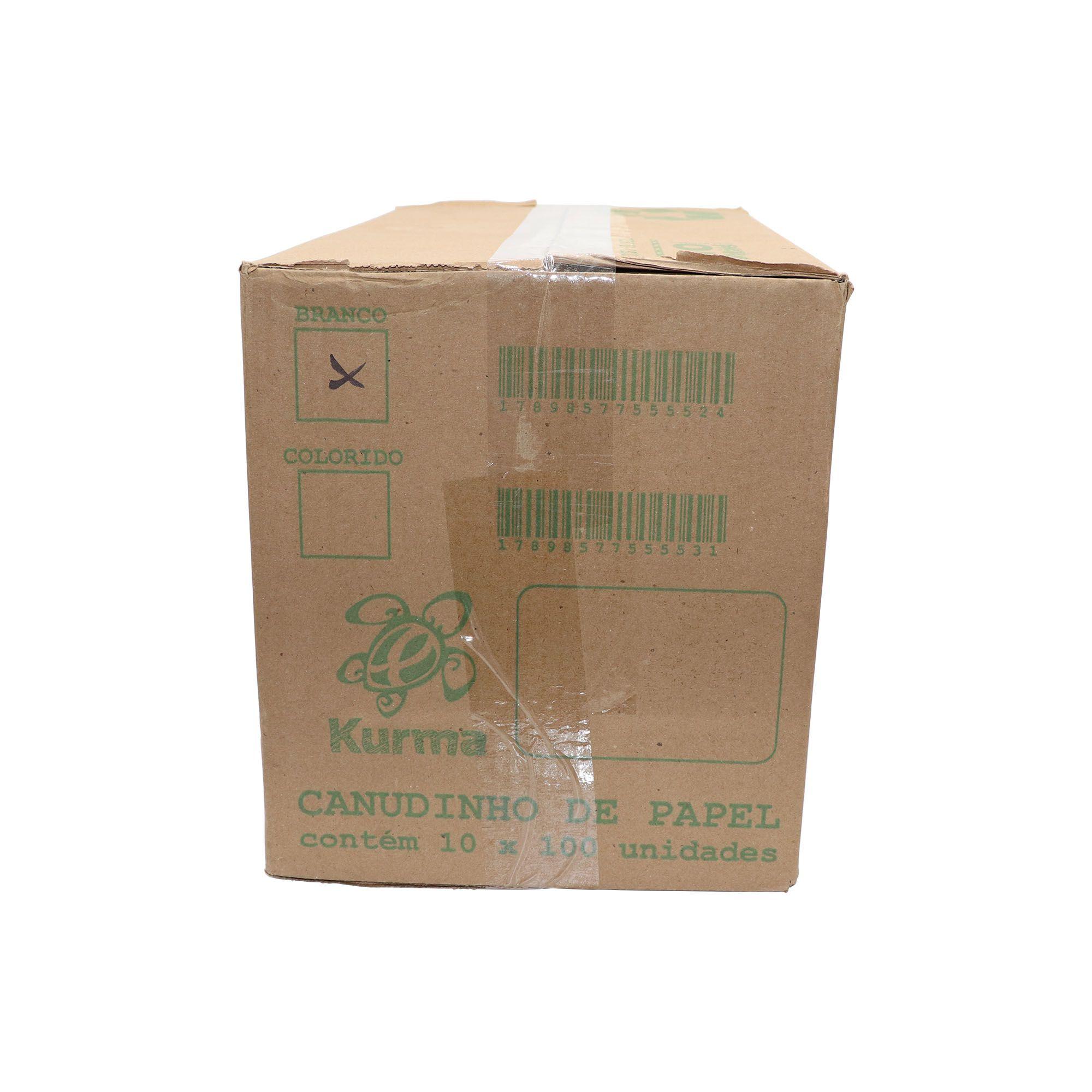 Canudo Biodegradável de Papel com 1.000 uni.