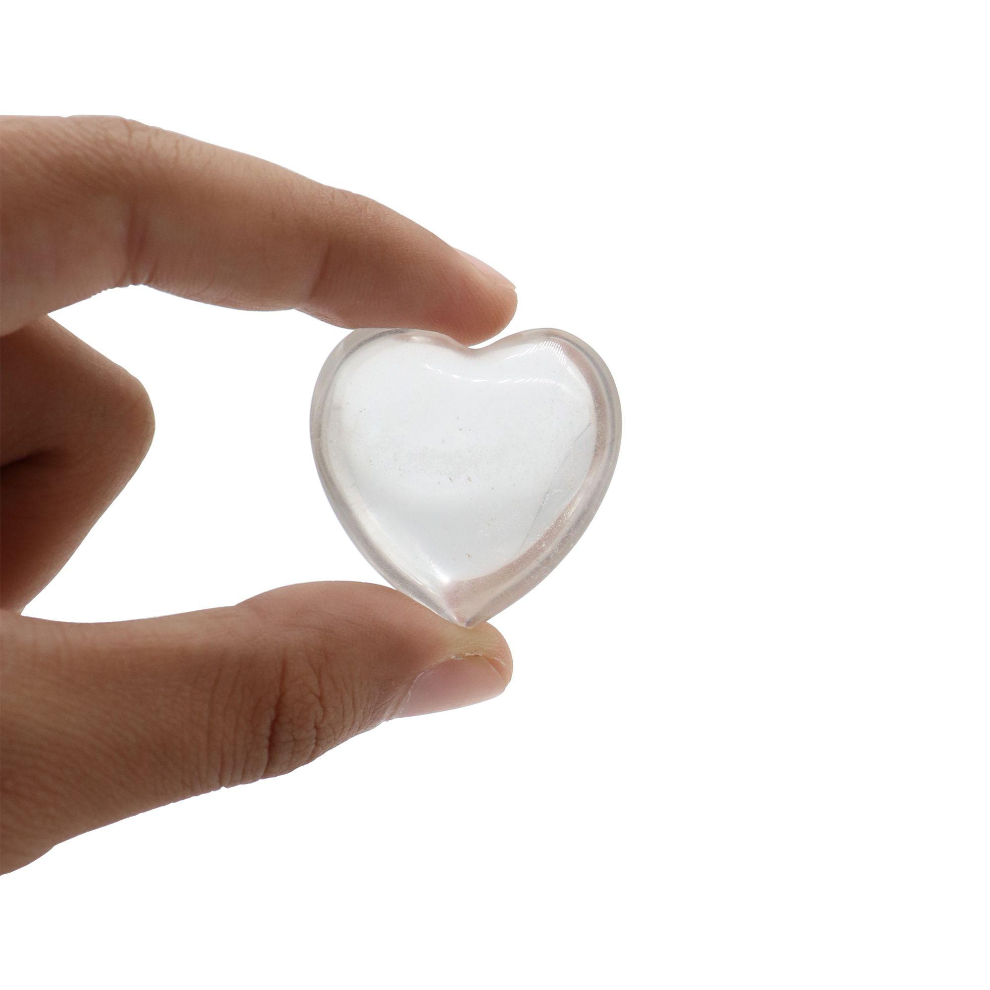 Coração de Quartzo cristal 34g - Lapidado polido