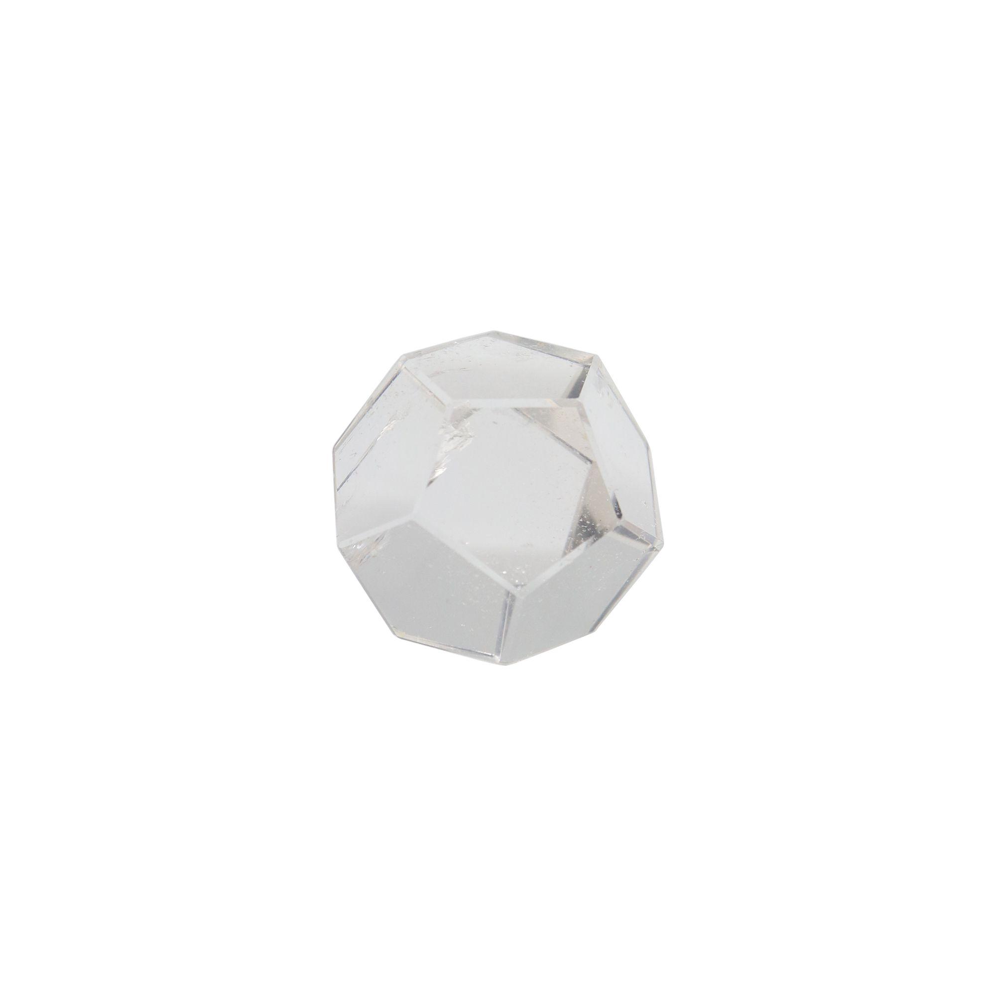 Cristal transparente Dodecaedro 26g - Polido