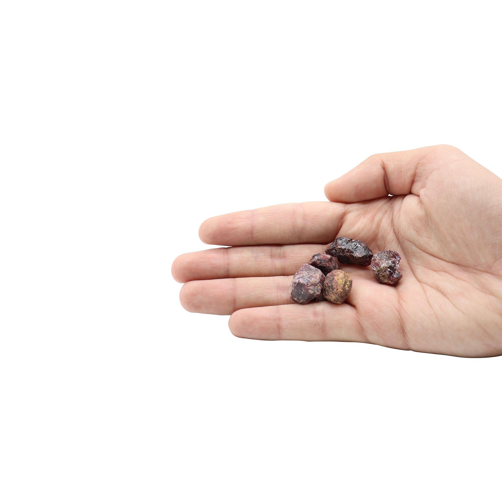 Kit com 5 pedras Granada natural ~ 7 à 25g
