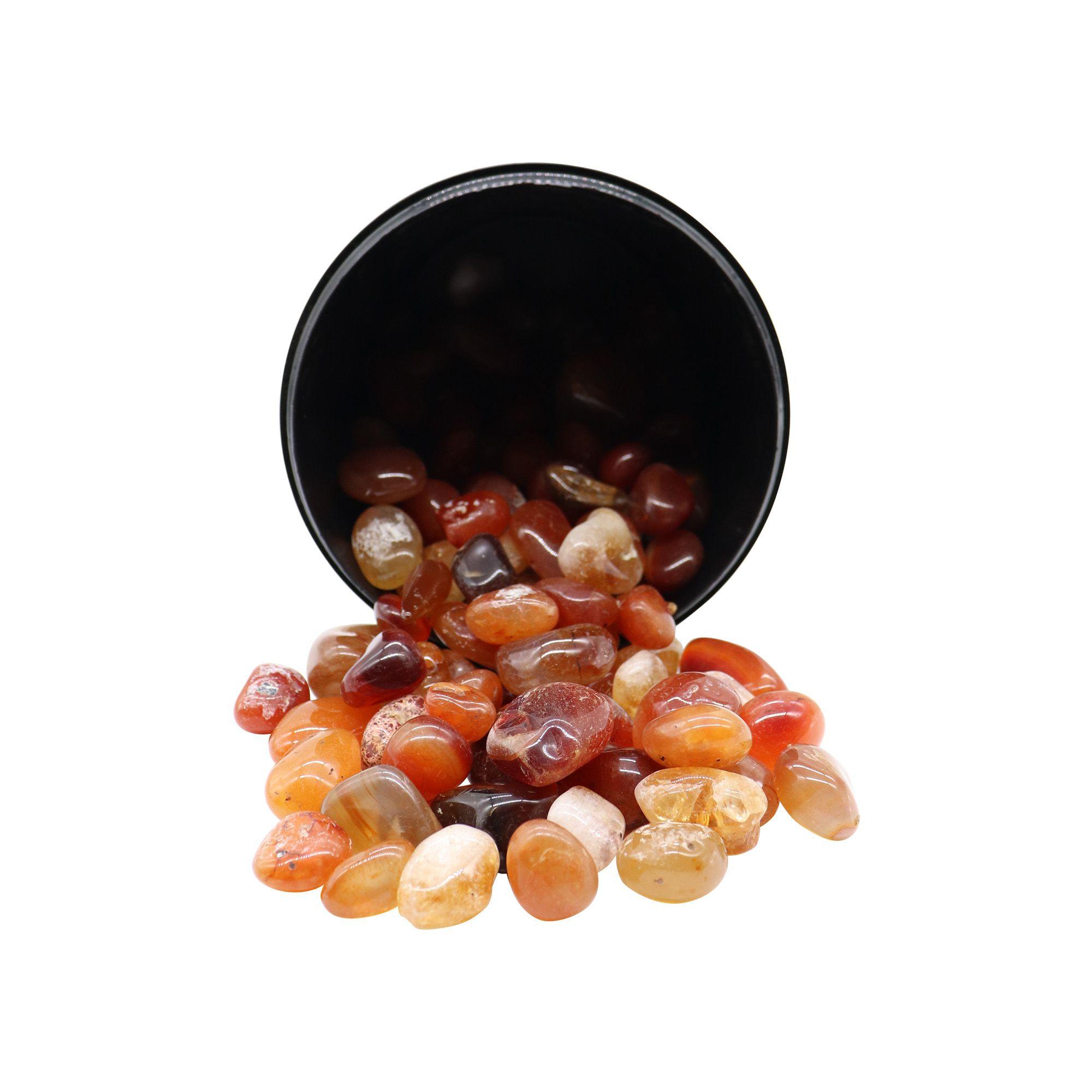 Kit com 5 pedras cornalina ~ 7 à 25g