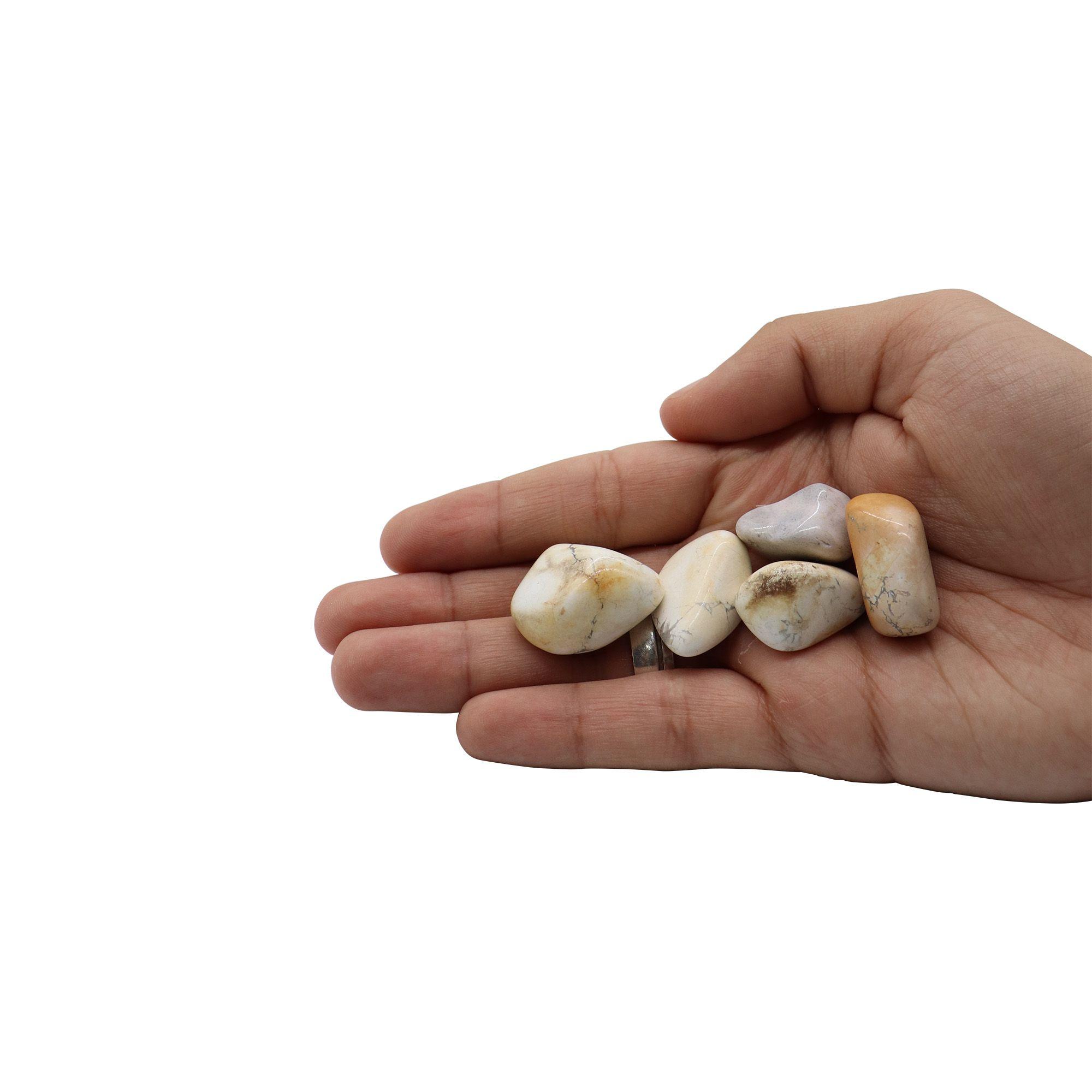 Kit com 5 pedras Howlita ~ 3 à 18g