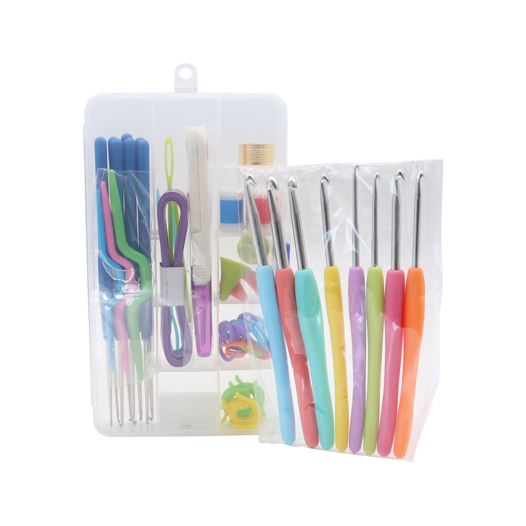 Kit de acessórios e agulhas p/ Crochê