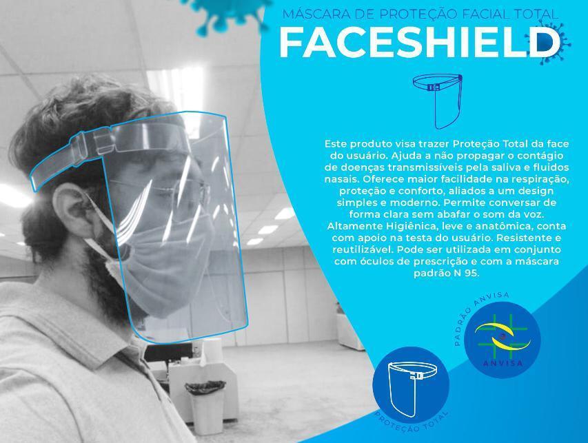 Mascara de Proteção facial total - Faceshield