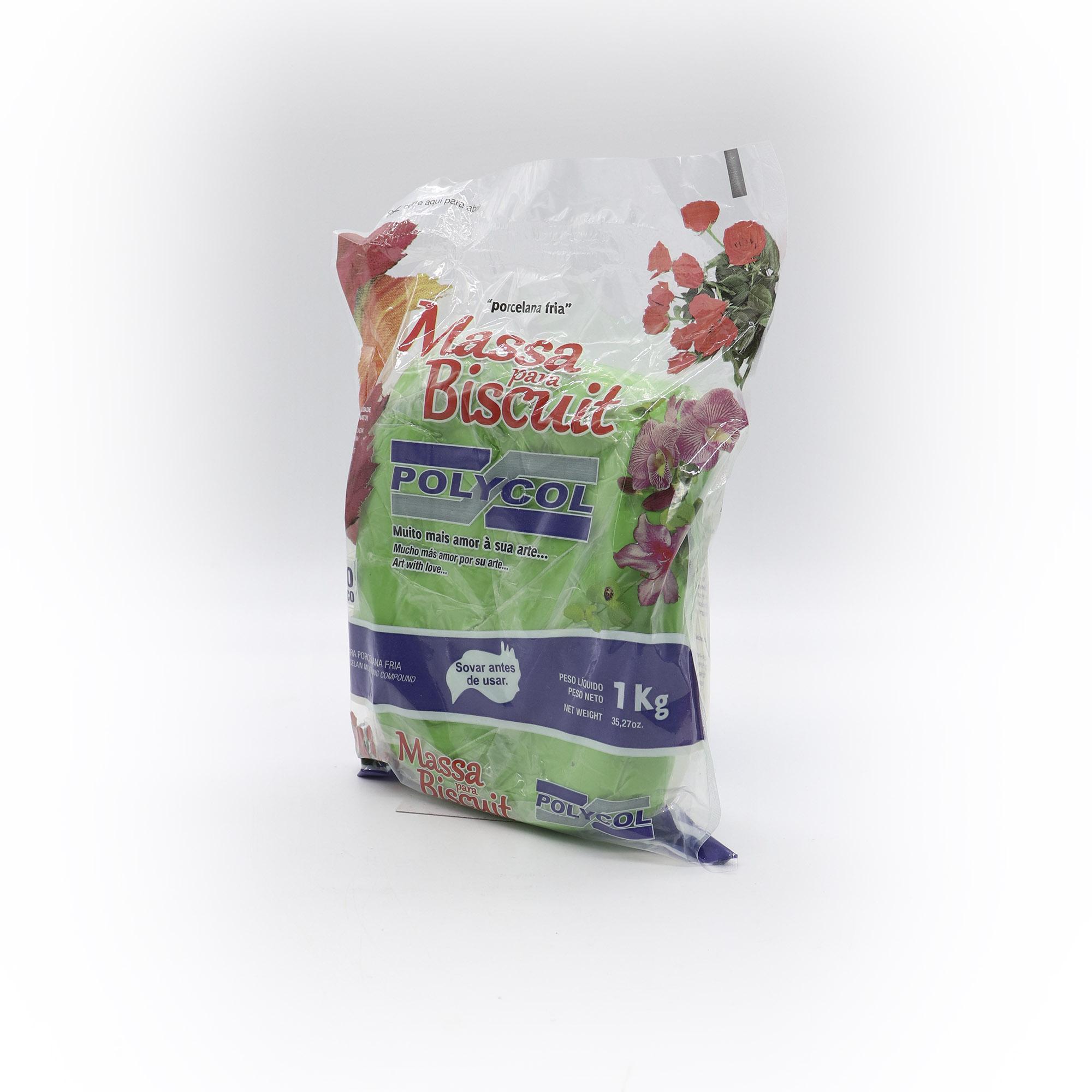 Massa para Biscuit Verde folha 1kg