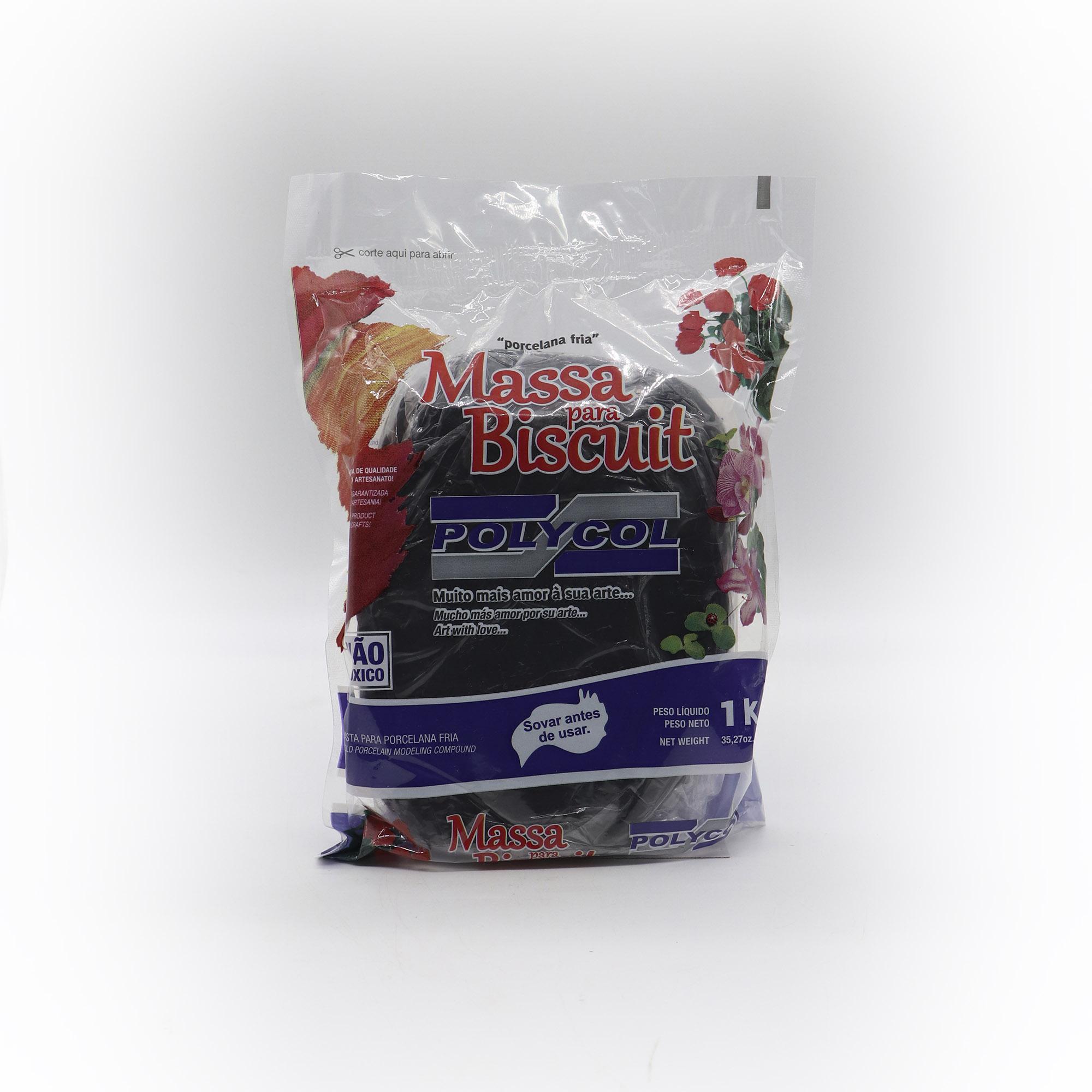 Massa para Biscuit Preto 1kg