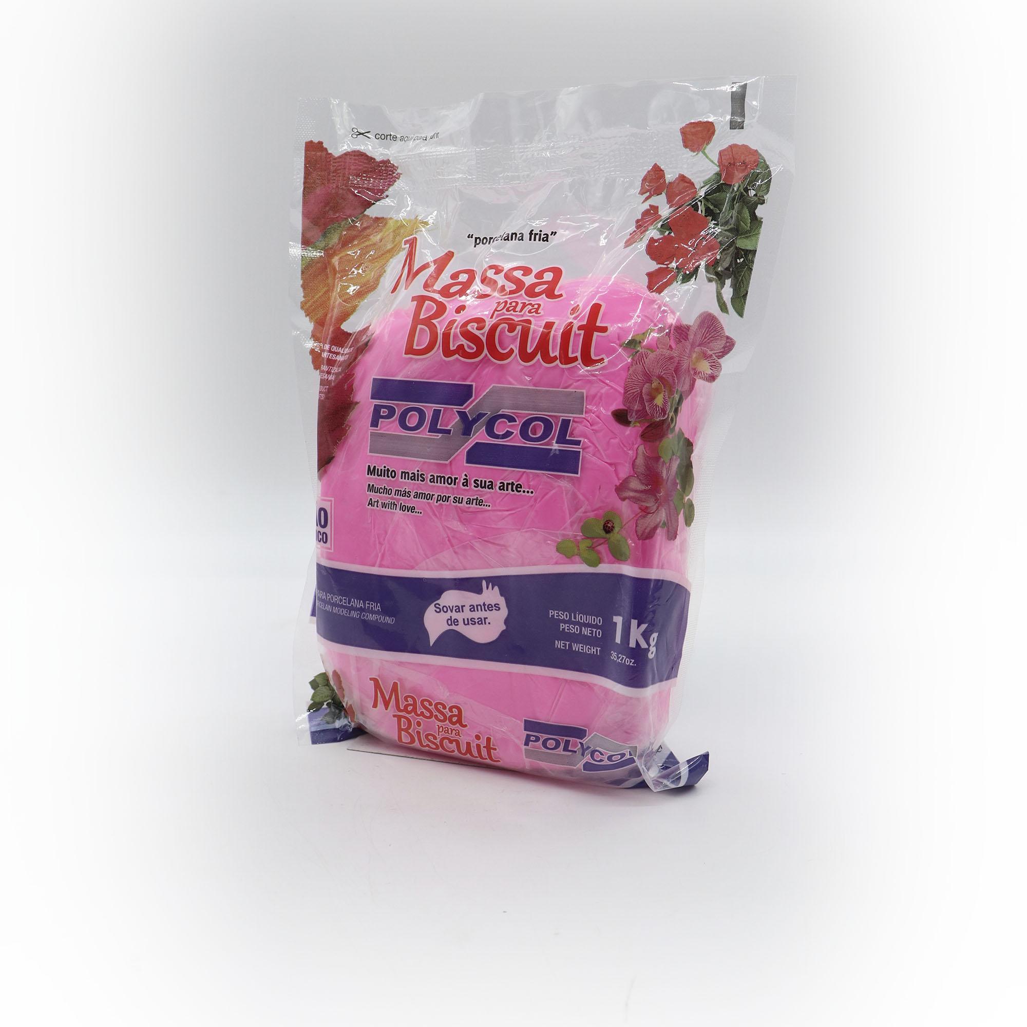 Massa para Biscuit Rosa 1kg