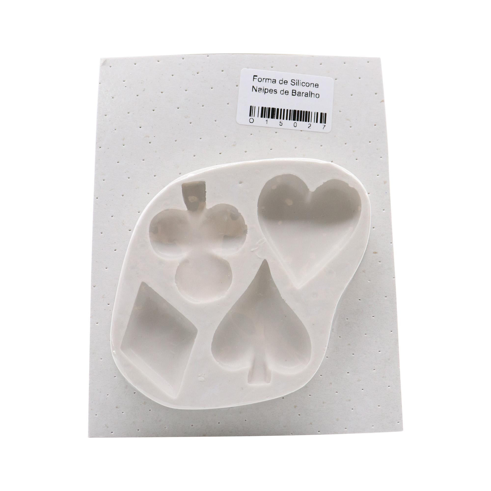 Molde de silicone Naipes de baralho