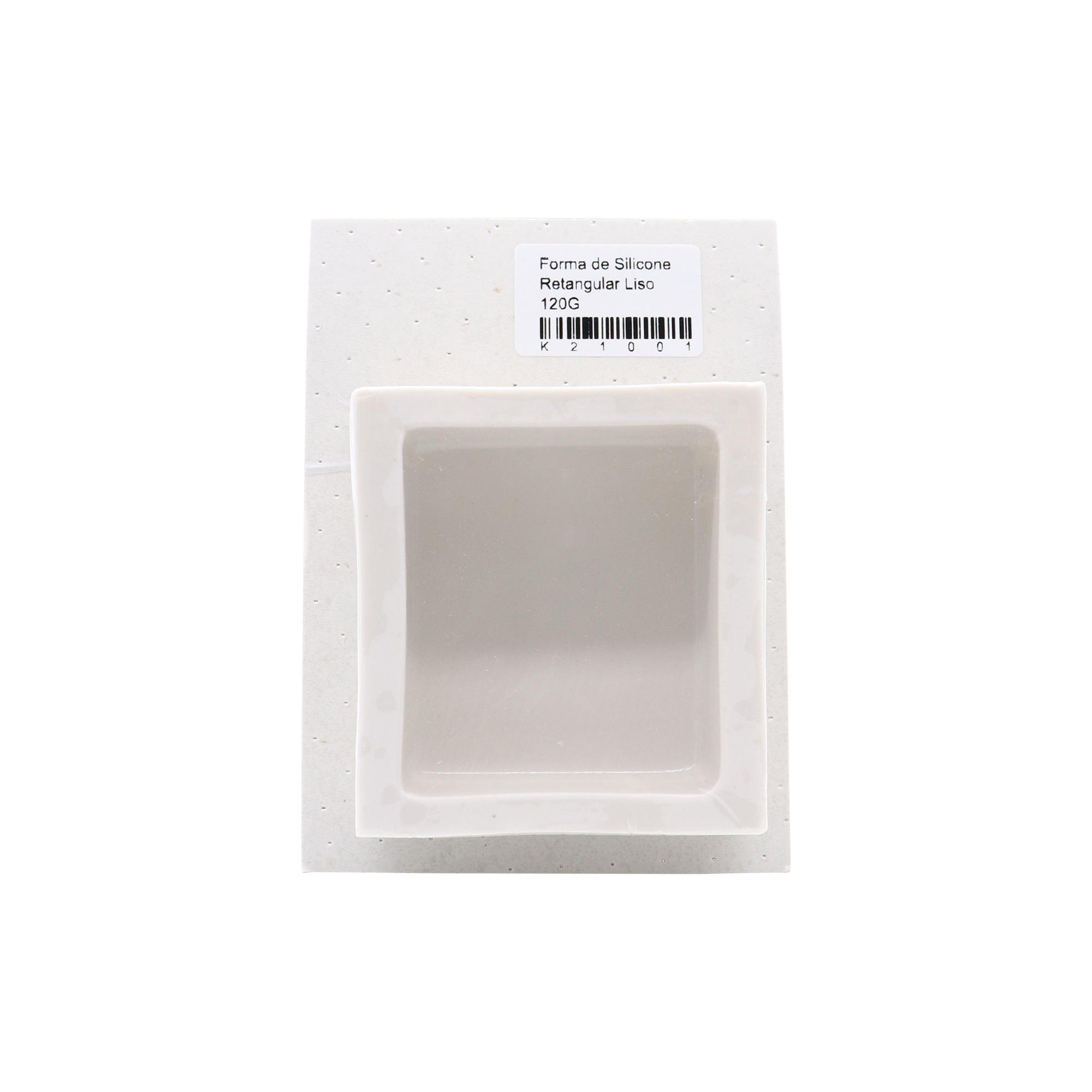 Molde de silicone retangular liso