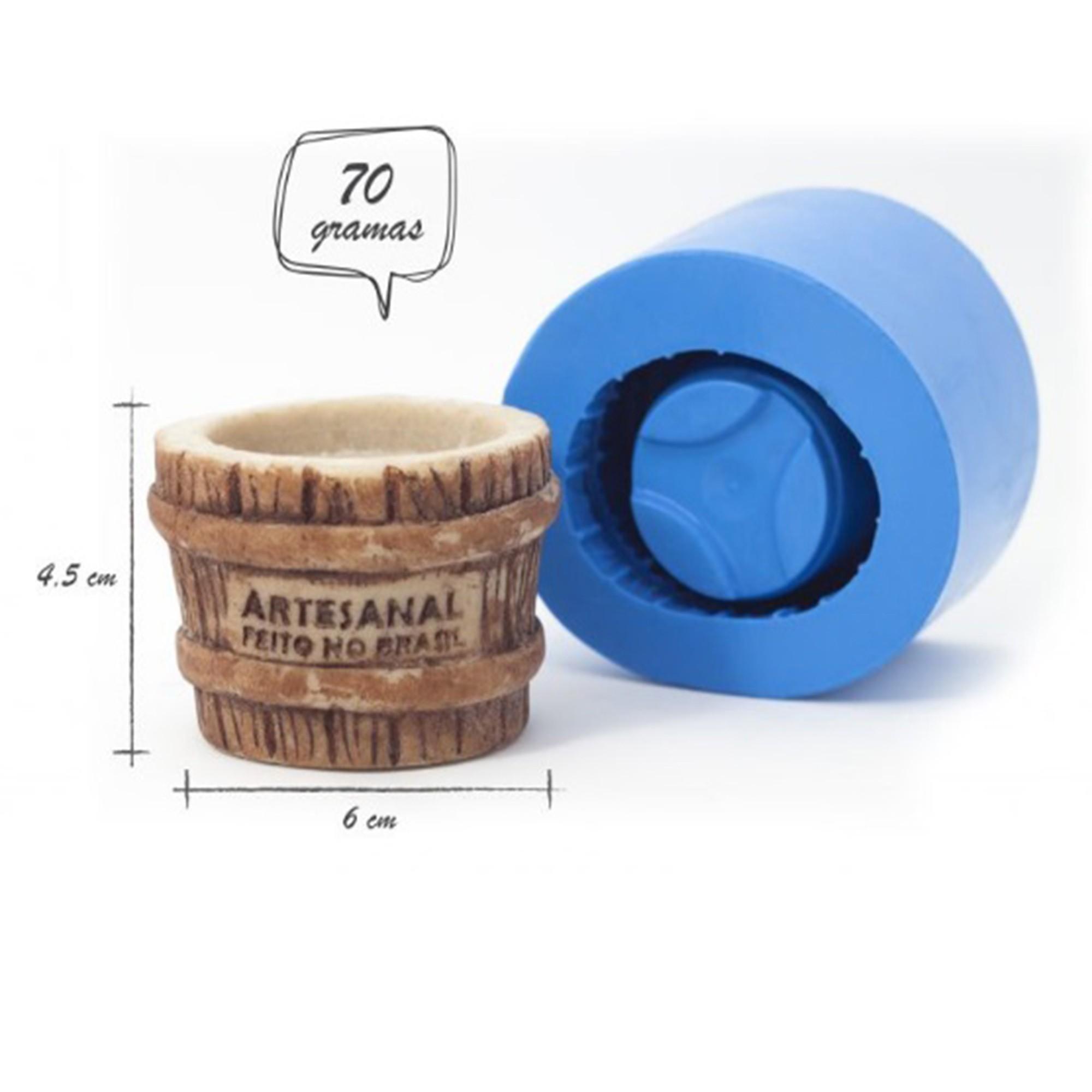 Molde de silicone Vaso balde de madeira
