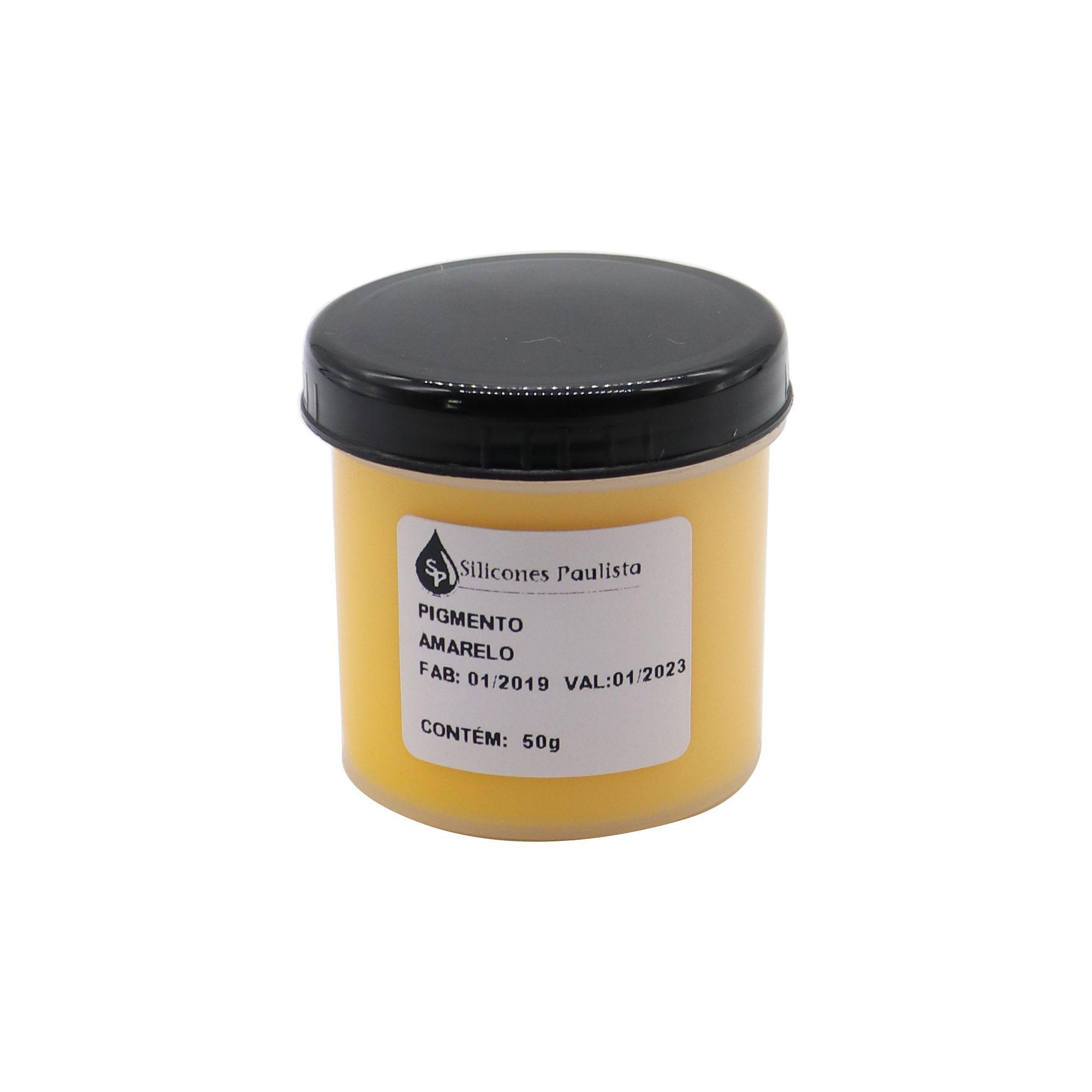 Pigmento pra Resina e Borracha 50g - Amarelo