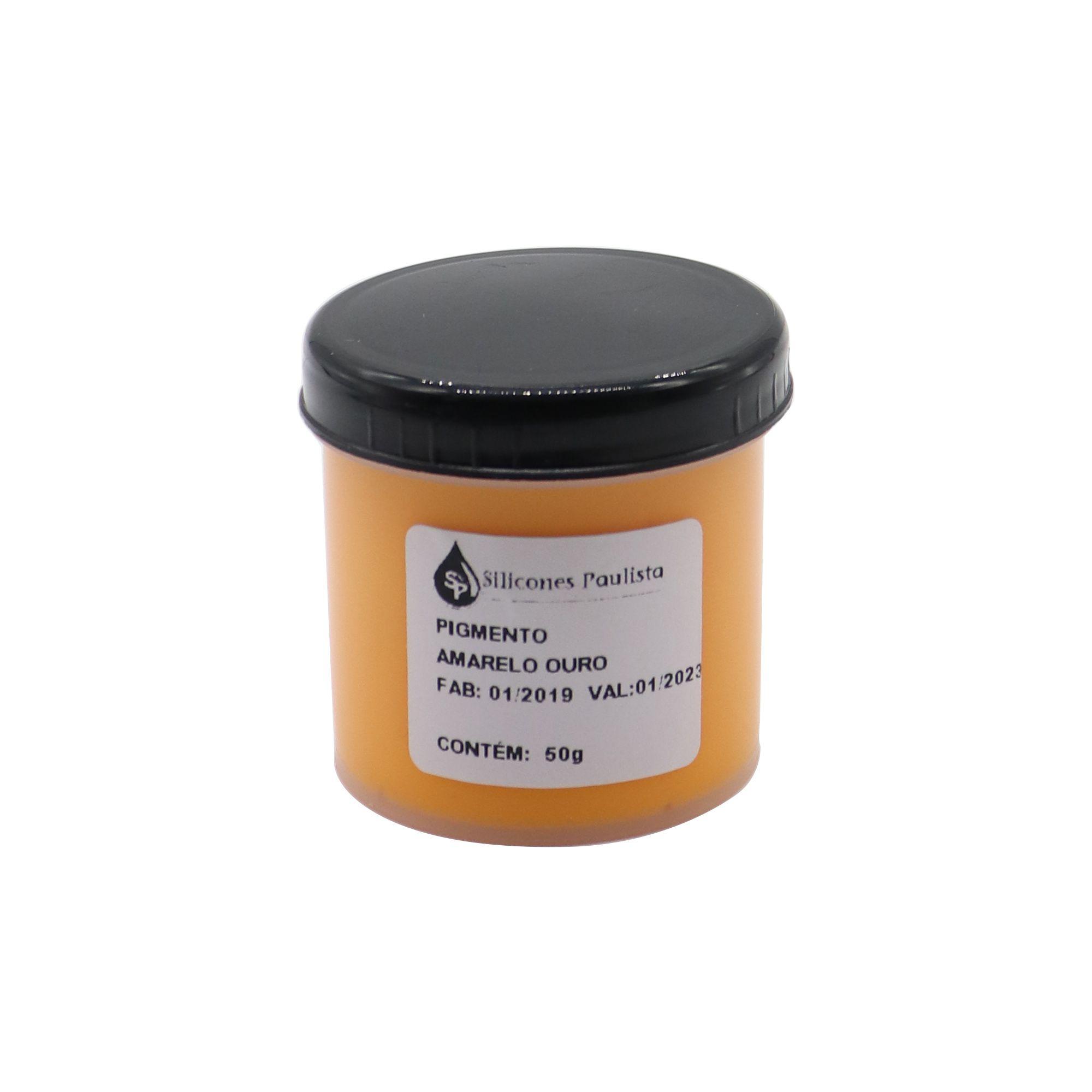 Pigmento pra Resina e Borracha 50g - Amarelo ouro