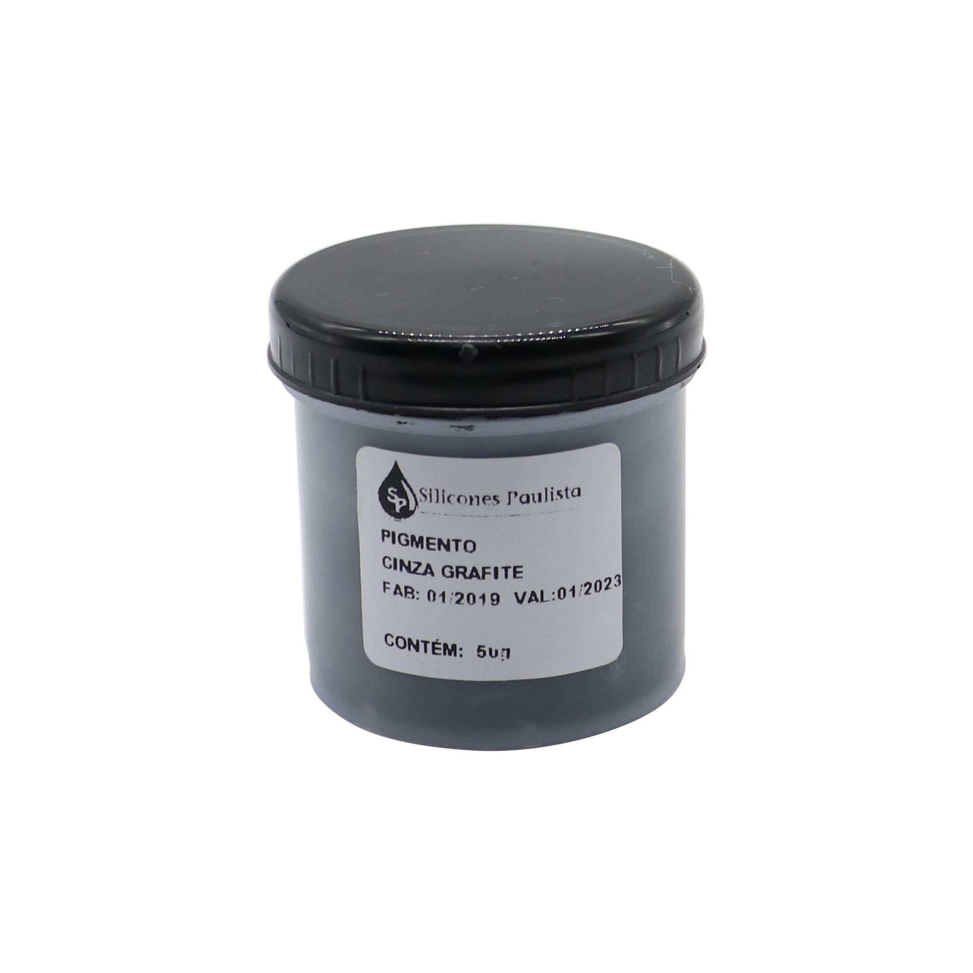 Pigmento pra Resina e Borracha 50g - Cinza grafite