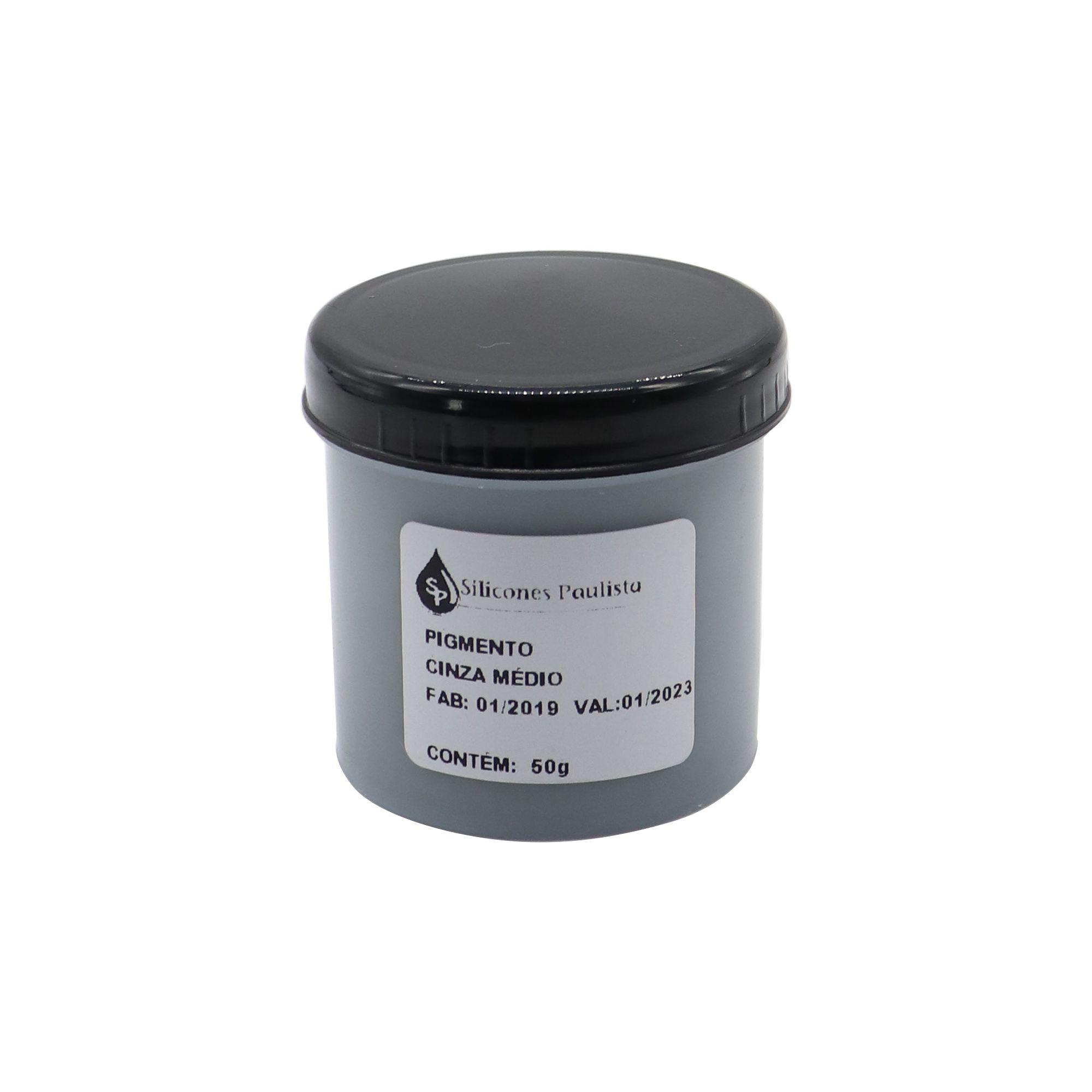 Pigmento pra Resina e Borracha 50g - Cinza médio