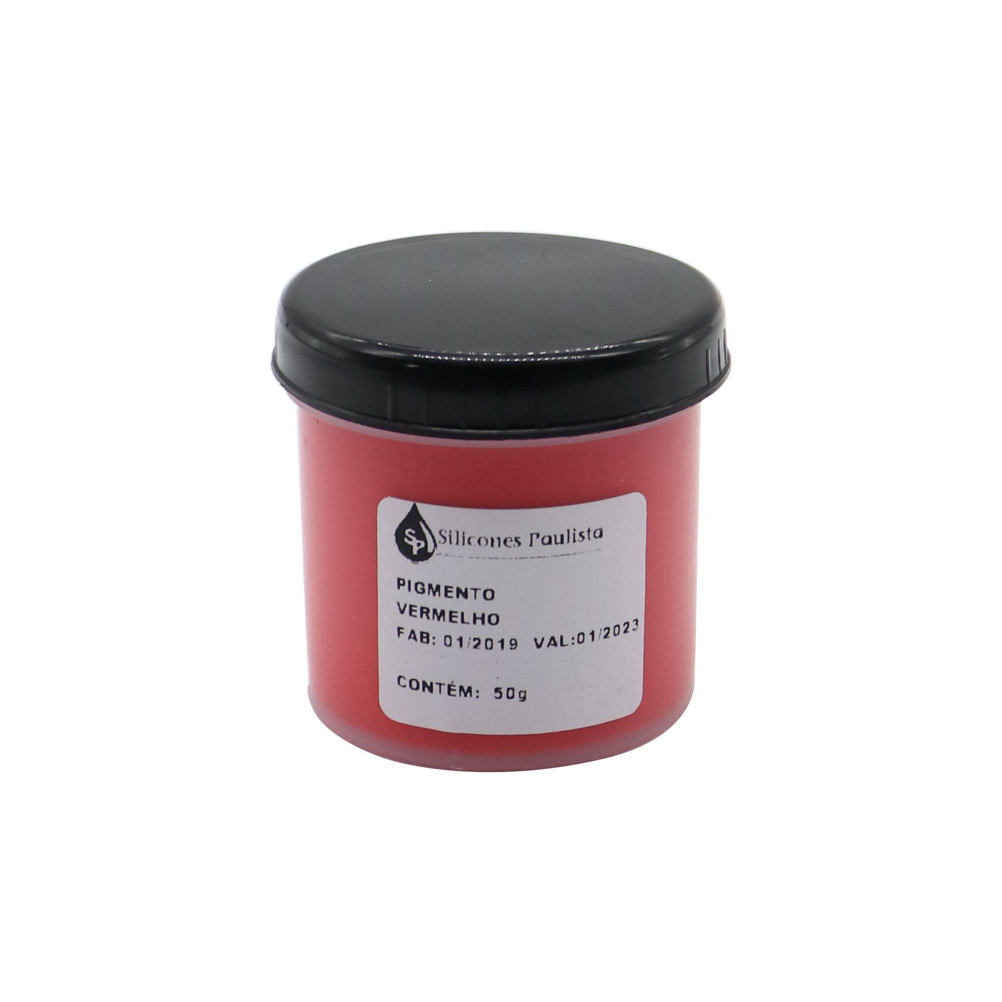 Pigmento pra Resina e Borracha 50g - Vermelho