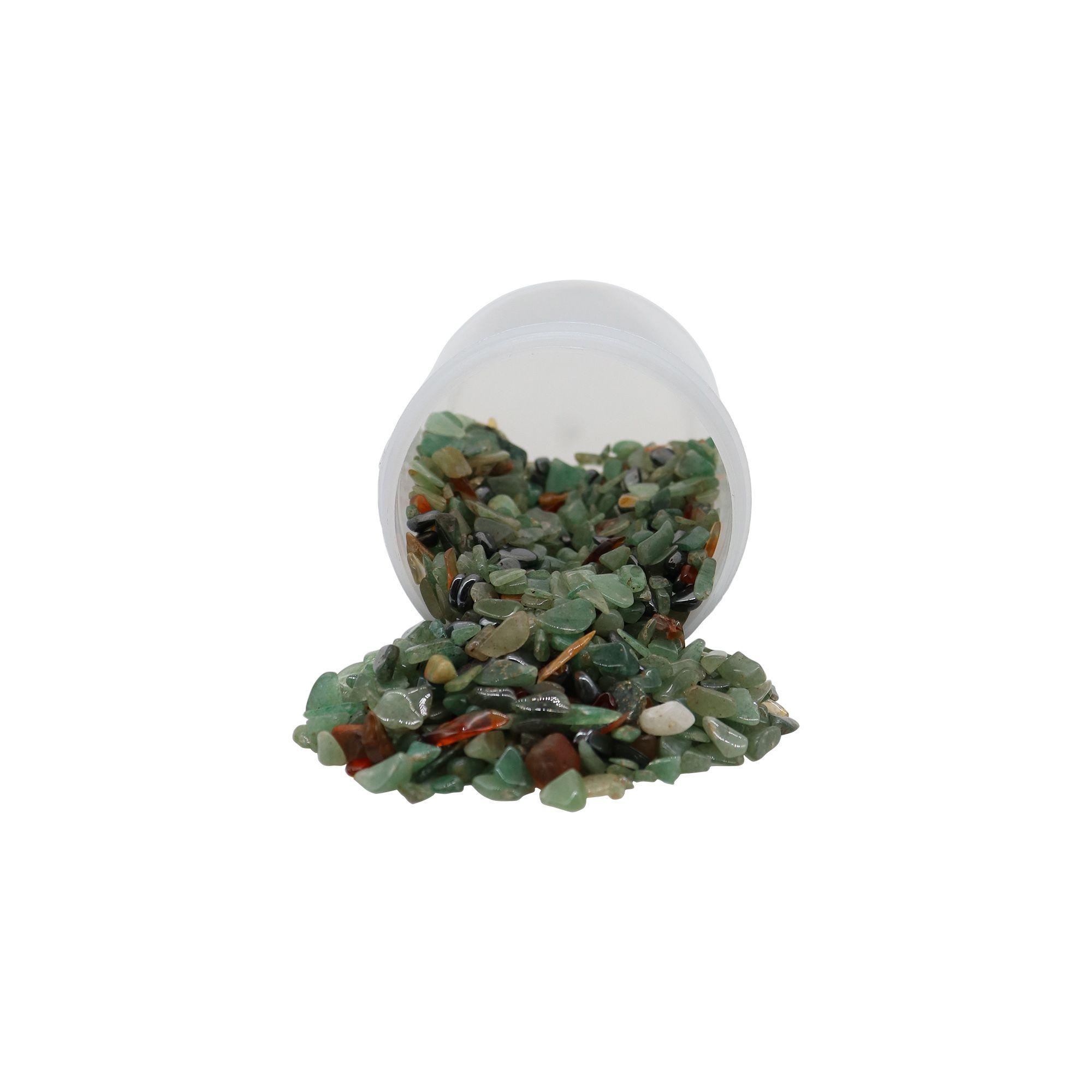Pote de cristais quartzo verde 70g